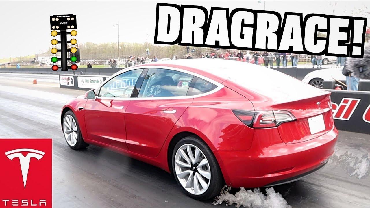 I Set The Tesla Model 3 1 4 Mile Record At Streetsd717 Callout