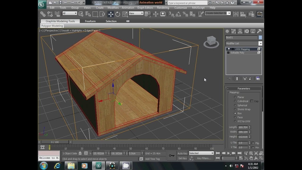 3Ds max dog house tutorial