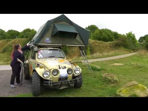 Beetle roof tent demo