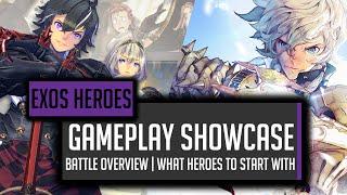 New Beautiful Mobile RPG!  Exos Heroes Showcase!