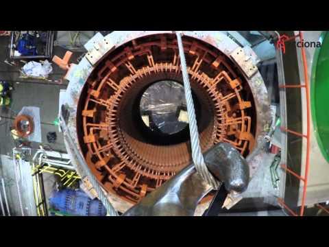 Mantenimiento en una central hidroeléctrica