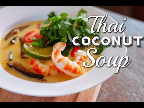 Thai Coconut Soup Recipe :: Vegan