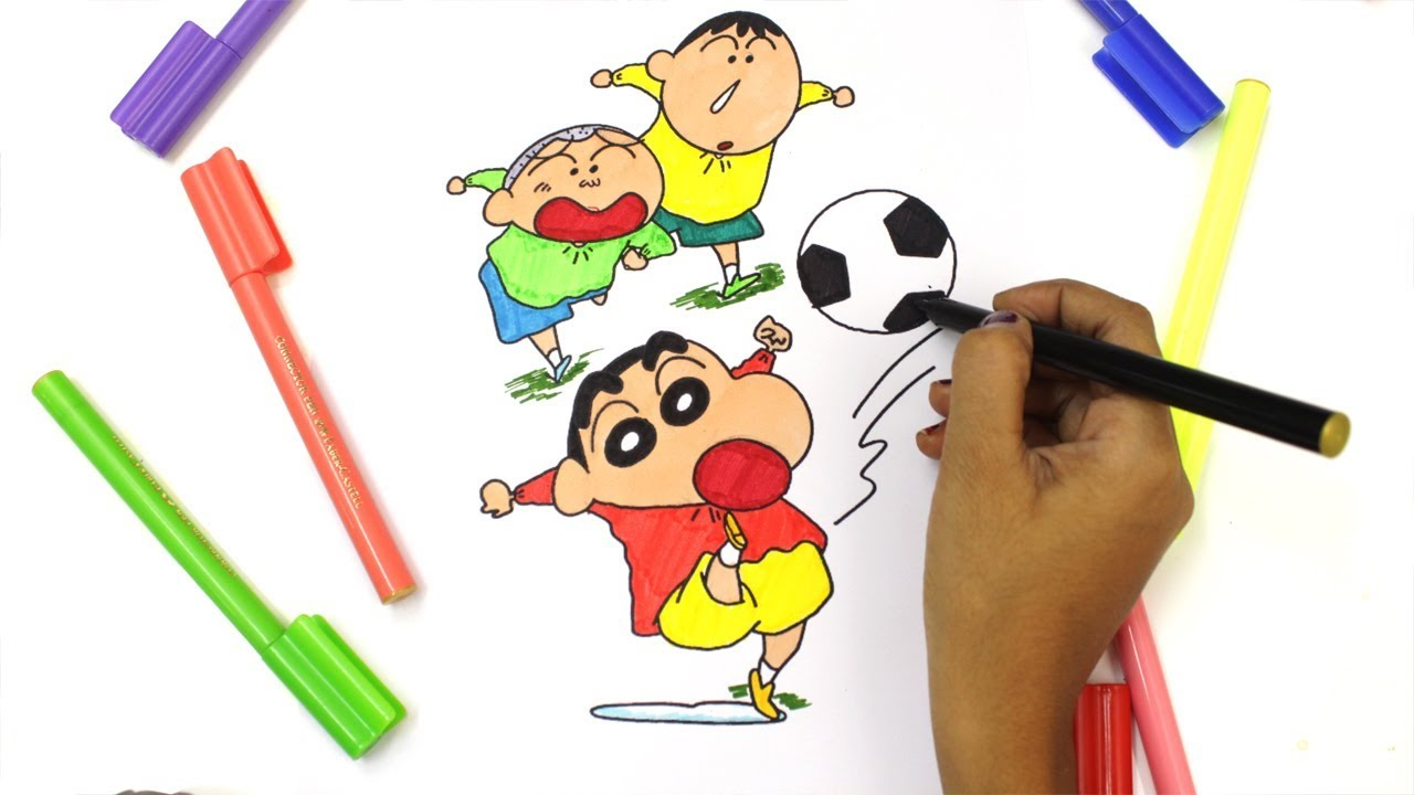 coloring shin chan and action kamen shin chan colouring