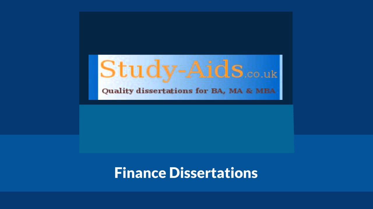 dissertations in banking and finance What are some good thesis topics in finances and banking thanks for the question in writing a thesis or dissertation finance dissertation topics.