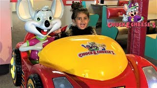 CHUCK E CHEESE'S family fun indoor playground games and play area for kids video!