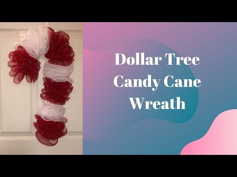 How To Make A Dollar Tree Candy Cane Wreath With Creative Wreaths And Flowers