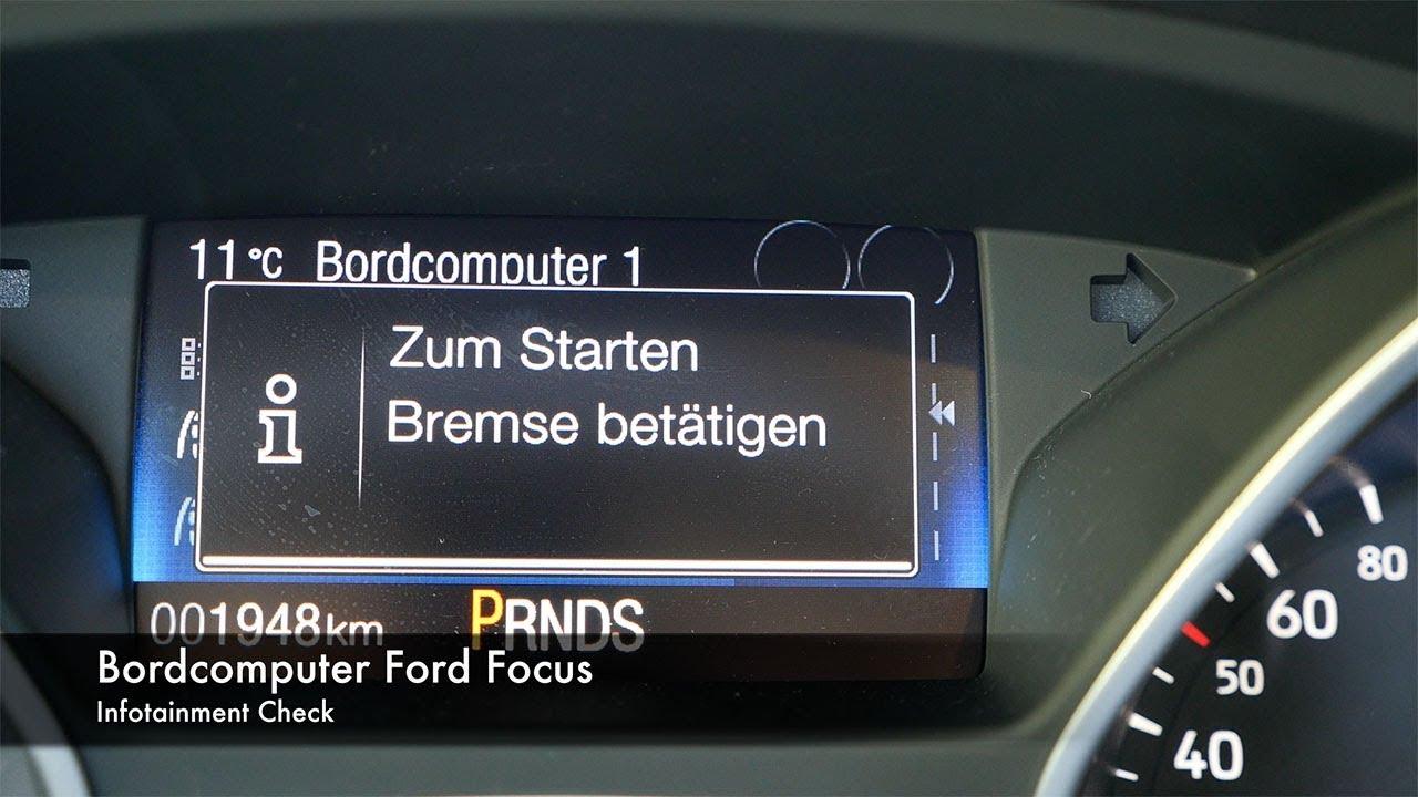 Infotainment Check Ford Focus Bordcomputer Youtube