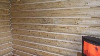 видео Межвенцовый герметик для сруба дома - купить в СПб для заделки трещин и швов в брусе между бревнами