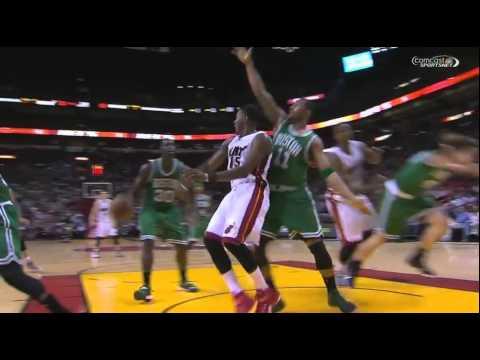 Hassan Whiteside ejected flagrant foul 2 on Kelly Olynyk: Celtics at Heat