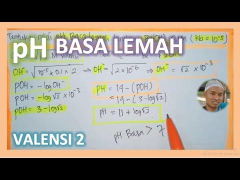 pH BASA LEMAH valensi 2 # Menentukan pOH pH Be(OH)2 ...