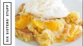 Peach Cobbler Dump Cake | Six Sisters Stuff