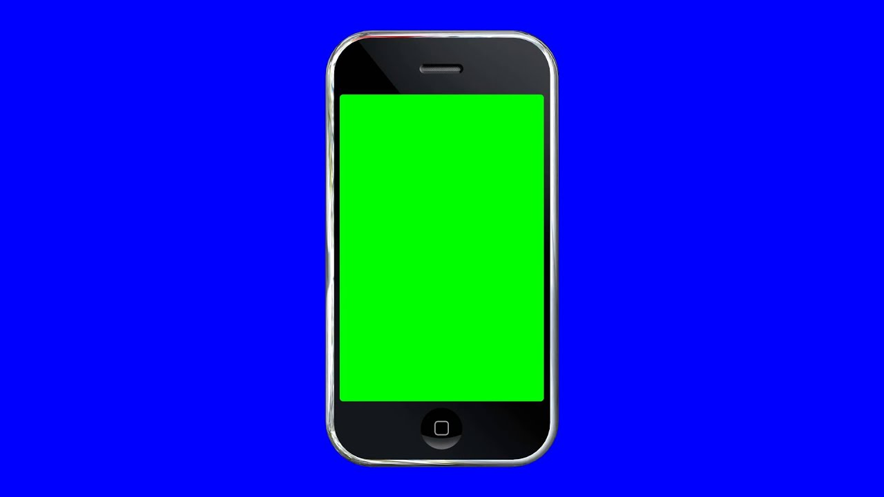 4K Ultra HD CellPhone Simple Green Blue Screen AA VFX - YouTube