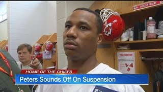 Marcus Peters talks about suspension for the first time