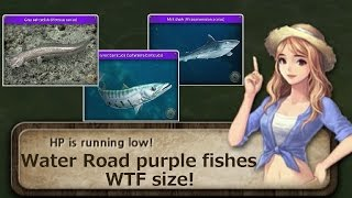 World Tour Fishing Water Road - Purple fishes WTF size 【水の道 紫ネーム魚極大】