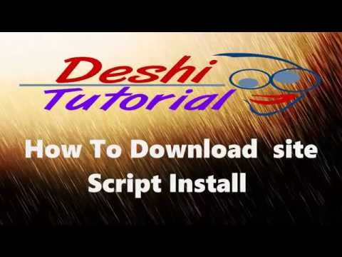 How to Install Download Site Script AutoIndex