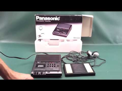 Sold Panasonic RR-930 Microcassette Dictation Transcriber With RP-2692 Foot Pedal For Sale On EBay