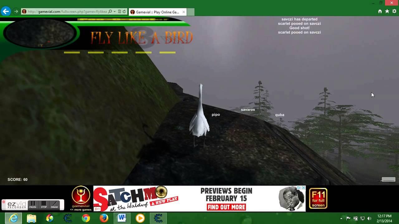 Игра Fly Like a Bird - Играйте онлайн на Y8.com