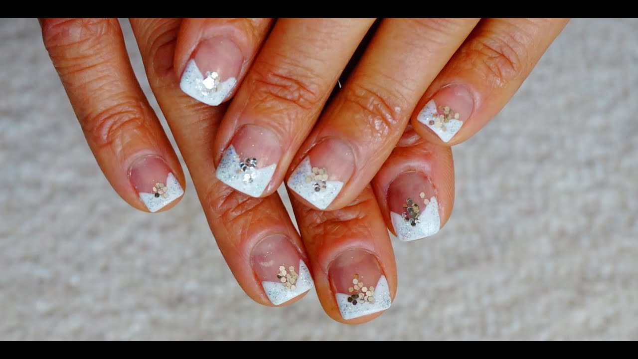 Wedding Nail Art Design Classic V French Manicure BEGINNERS EASY ...