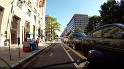 Washington DC, 15th street NW cycletrack (partial, 3x speed)
