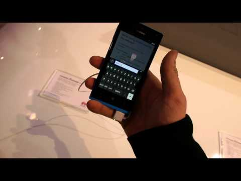 Huawei Ascend W1 Hands On at CES 2013