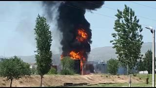 Бушующий пожар в Жалал-Абаде