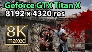 Serious Sam 3 BFE 8K gameplay - Geforce GTX Titan X 8k