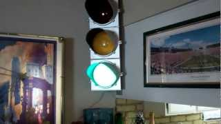 A Redneck Traffic Light/Stop Light/Red Light with Vintage Parts + Sequencer