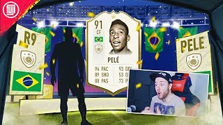 PELE & RONALDO IN THE SAME PACK OPENING!!! BASE ICON UPGRADE! - FIFA 20 Ultimate Team
