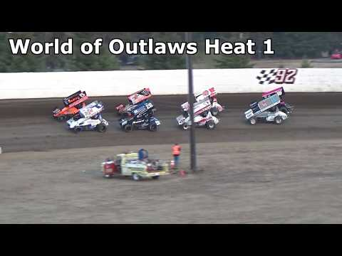 Grays Harbor Raceway, September 3, 2018, World of Outlaws Heat Races 1,2 and 3