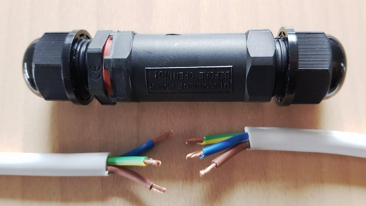 kabelverbinder wasserdicht verbinden verl ngern erdkabel reparieren verbindungsbox. Black Bedroom Furniture Sets. Home Design Ideas