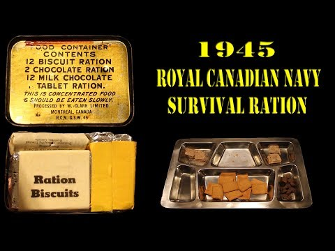 Trying a 1945 Royal Canadian Navy Survival Ration ( 73 YEAR OLD CHOCOLATE! )
