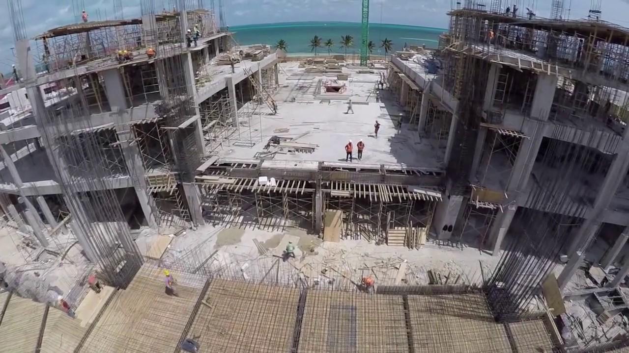 temptation cancun renovation progress march 2017 - youtube