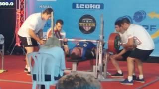 300 kg Bench press Campionatul European de Powerlifting  Spania-Malaga 2017
