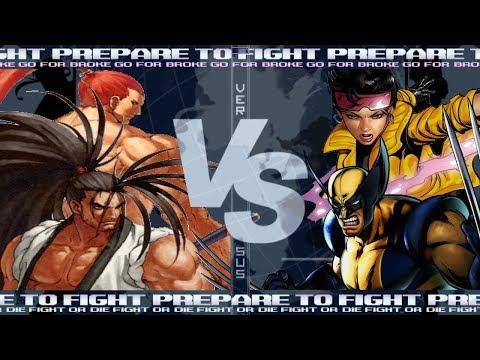 Haohmaru & Genjuro VS Wolverine & Jubilee