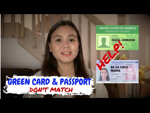 Can You Travel With A Different Last Name On Your Passport And Green Card?
