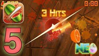 Fruit Ninja: Gameplay Walkthrough Part 5 - The Pomegranates! (iOS, Android)