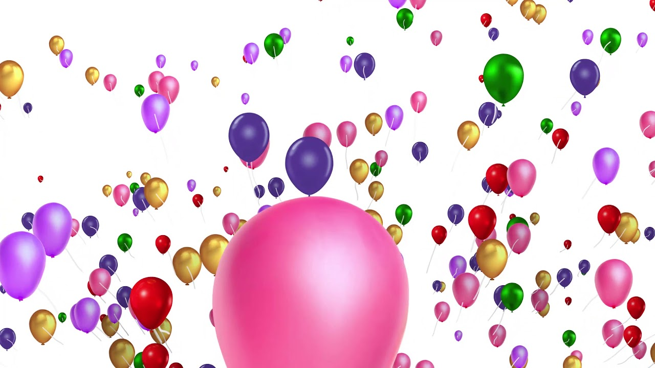 Multicolor Colorful Balloons Motion Animation Background