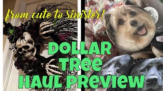 Dollar Tree Halloween Haul PREVIEW OMG! Newest Items - from CUTE to SINISTER!