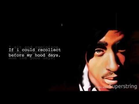 2Pac - Ghetto Gospel (Feat. Elton John) (Lyric Video/HQ)