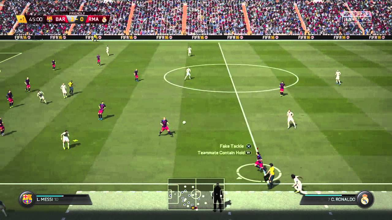 fifa 16 fc barcelona vs real madrid fifa 16 gameplay