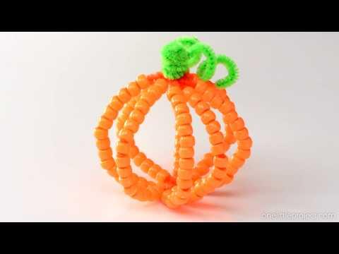 beaded-pipe-cleaner-pumpkins