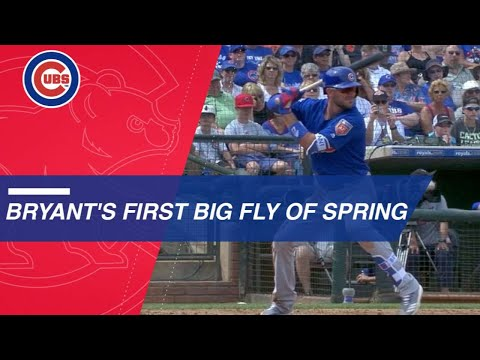 Bryant skies three-run homer to left-center