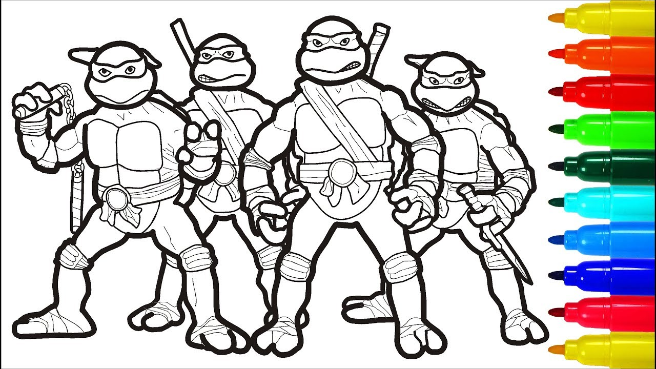 TMNT Coloring Pages Markers | Colouring Pages for Kids ...