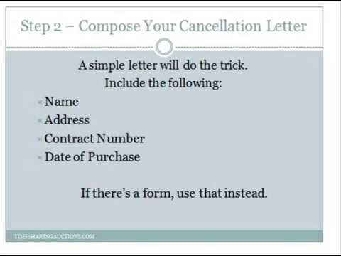Cancel Your Timeshare - How to get out of a timeshare contract - YouTube