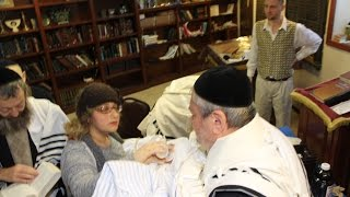 Jewish religious male circumcision ceremony performed by a mohel