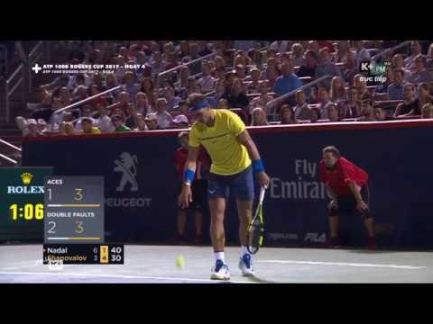Rafael Nadal vs Denis Shapovalov Best Momment Coupe Rogers Montreal 2017