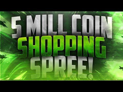 MASSIVE MADDEN MOBILE 18 SHOPPING SPREE!! 5 MILLION COINS SPENT LIVE!