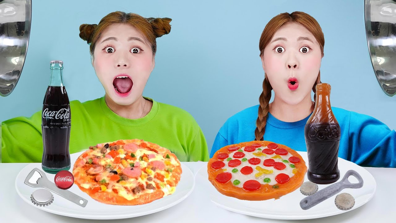 Download Real Food VS Jelly Chocolate Food Challenge! Eating Only Sweet 24 Hours by HIU 하이유