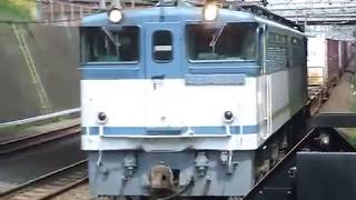 EF65形2095号機コンテナ貨物列車20両編成 武蔵野線新秋津駅通過