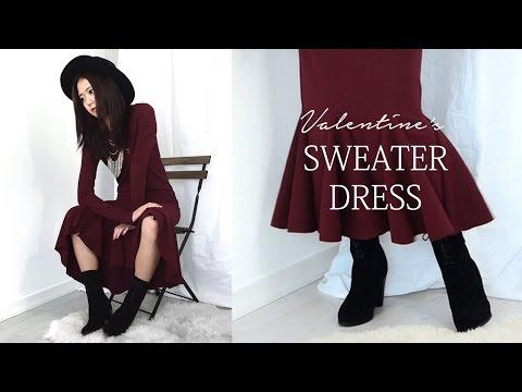 DIY Valentine's Sweater Dress (Korean Sub)